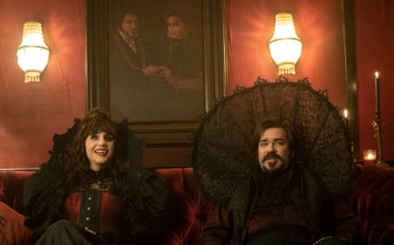 Natasia Demetriou and Matt Berry in What We Do in the Shadows.