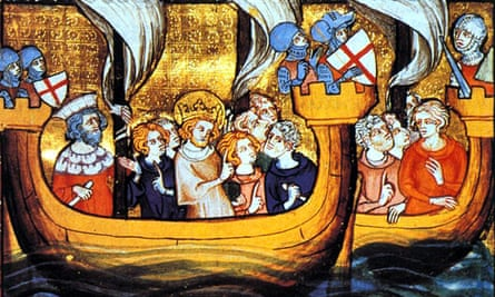 Image of Louis IX en route from Aigues-Mortes to Egypt during the Seventh Crusade (1248 to 1254)