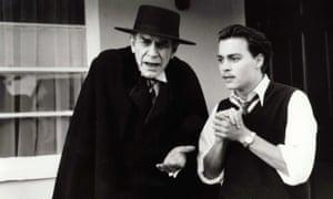 Martin Landau playing Bela Lugosi, left, with Johnny Depp in Ed Wood, 1994, directed by Tim Burton.