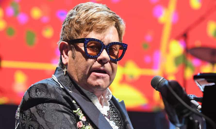 Elton John in concert in Florida earlier this month