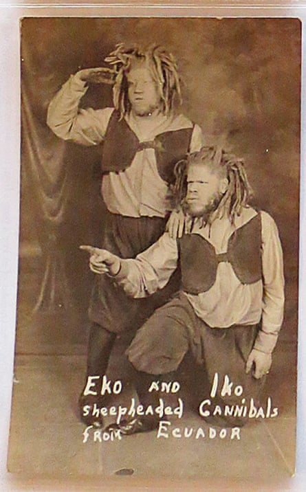 The brothers billed as Eko and Iko, sheepheaded cannibals from Ecuador.
