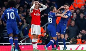 Chelsea celebrate.