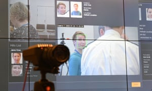 A camera being used during trials at Scotland Yard for the new facial recognition system