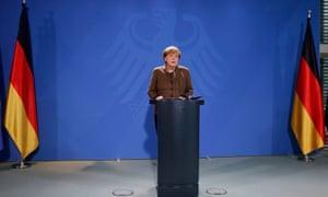 German Chancellor Angela Merkel gives a statement in Berlin, Germany, 23 December, 2016.