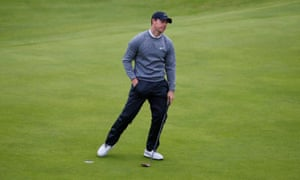 Rory McIlroy on the 18th. So near and yet so far.