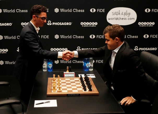 Magnus Carlsen misses win in Game 1 draw with Fabiano Caruana – as