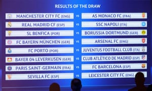 The draw for the last-16 stage of the 2016-17 Champions League, which took place at Uefa's headquarters in Nyon on Monday
