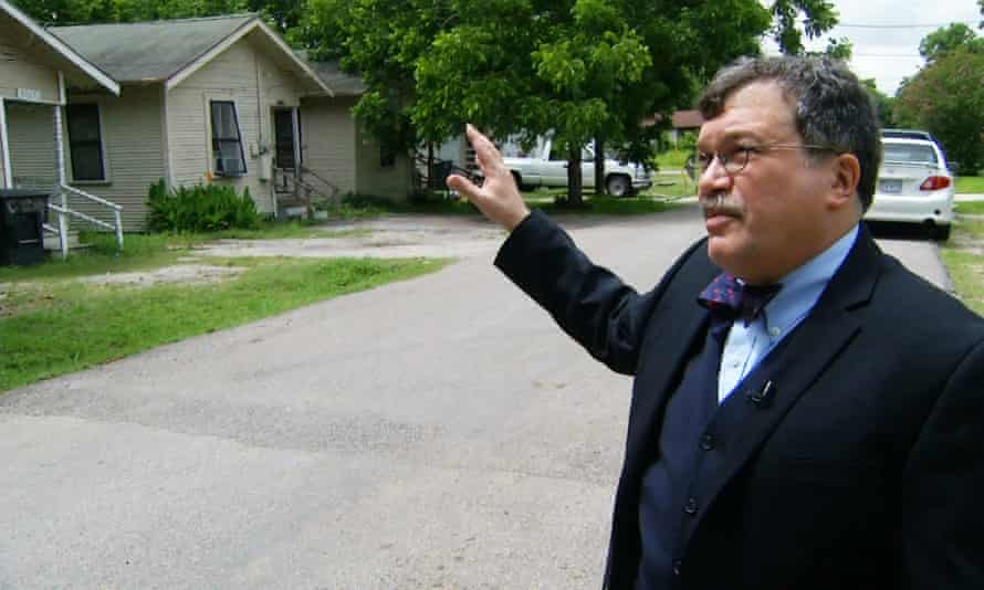 Peter Hotez shows an Associated Press reporter and video journalist areas of Houston's Fifth Ward that may be at high risk for mosquitoes capable of transmitting the Zika virus in Houston.