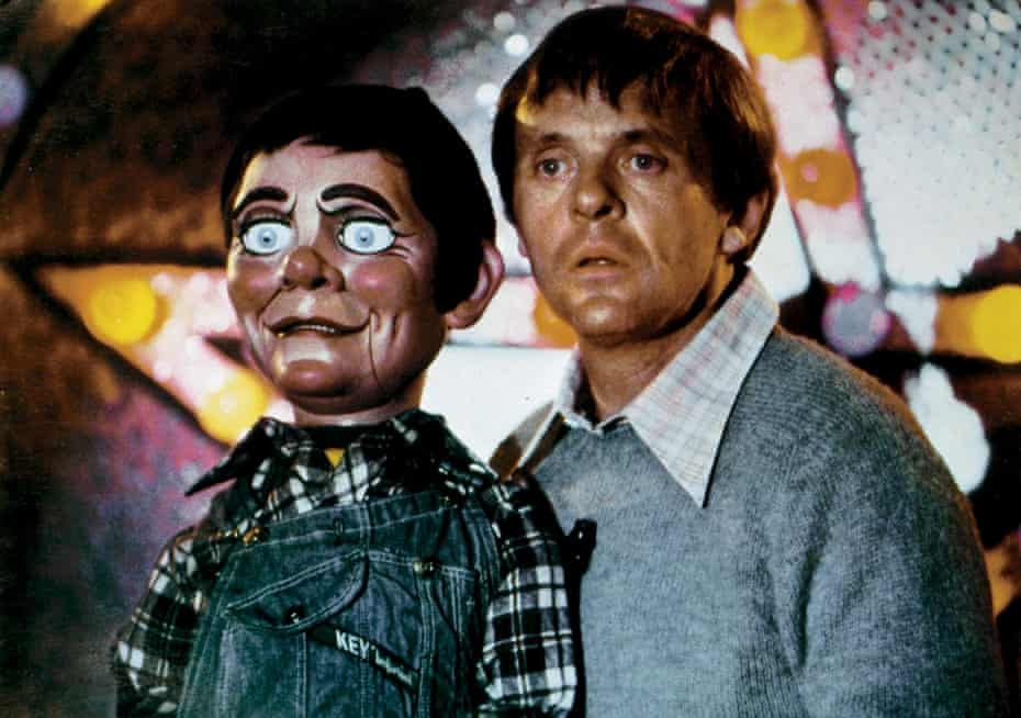 Hopkins as Corky, with Fats the dummy.