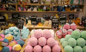 A Lush cosmetics store in London