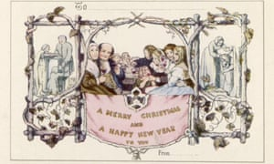 Reputedly the first Christmas card, designed by Horsley in 1843, commissioned by Sir Henry Cole.