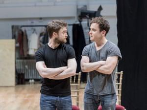 Daniel Radcliffe (Rosencrantz) and Joshua McGuire Joshua McGuire (Guildenstern) in Rosencrantz & Guildenstern Are Dead