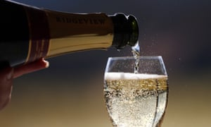 Ridgeview sparkling wine being poured