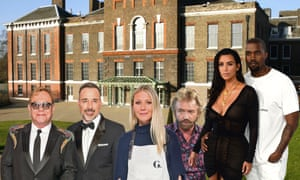 Celeb-rations ... Elton and David, Gwyneth, Noel, Kim and Kanye.