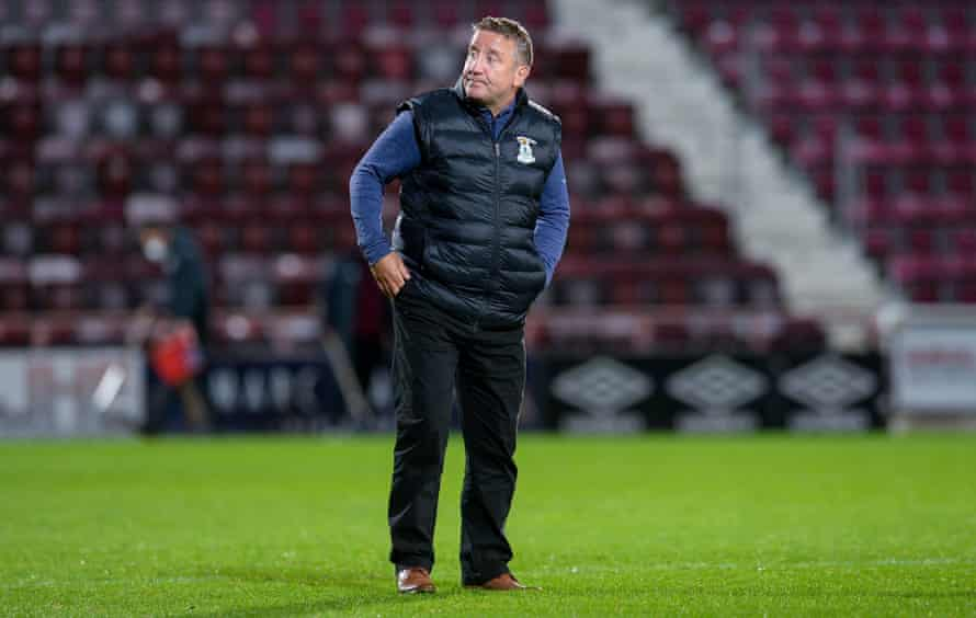 John Robertson last October during his time as Inverness manager. 'I was running myself into the ground, not sleeping and taking too much on,' he says.
