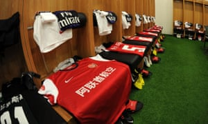 Arsenal shirts featuring Chinese lettering were used during the club's pre-season tour in 2012.