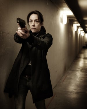 Sofie Gråbøl as Sarah Lund  in The Killing.