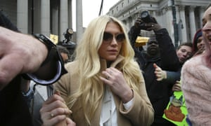 KeshaPop star Kesha leaves Supreme court in New York, Friday, Feb. 19, 2016. Kesha is fighting to wrest her career away from a hitmaker she says drugged, sexually abused and psychologically tormented her _ and still has exclusive rights to make records with her. Producer Dr. Luke says the singer is slinging falsehoods and ruining his reputation to try to weasel out of her recording contract and strike a new deal. (AP Photo/Mary Altaffer)