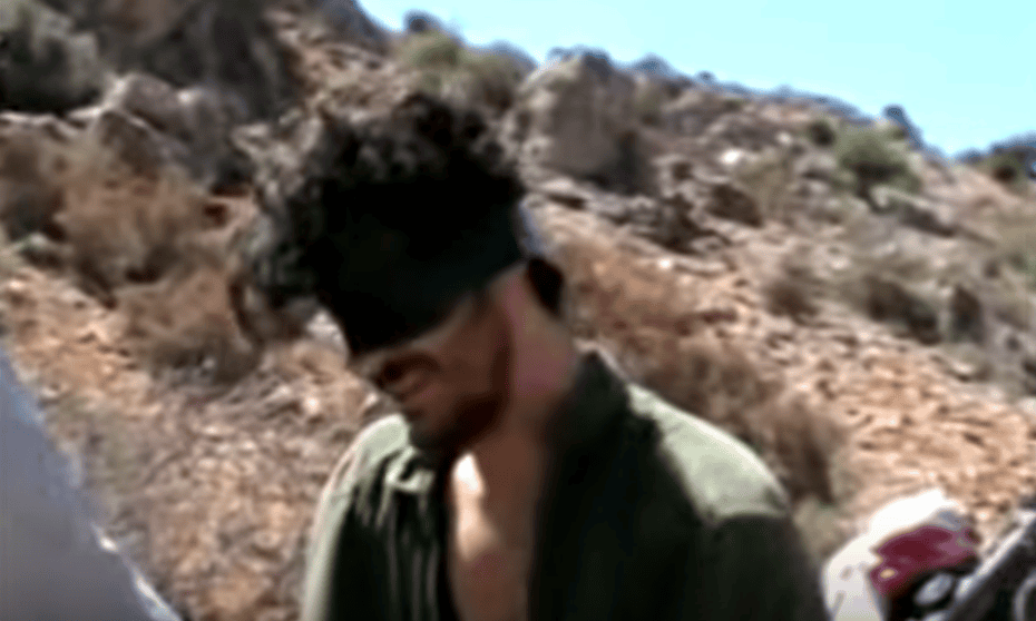 Austin Tice in the 2012 film clip released by his captors.