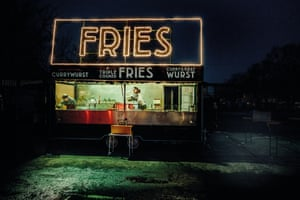 Fries: Absence – of daylight and people – is what defines this melancholic shot of a market stall at the end of a winter day