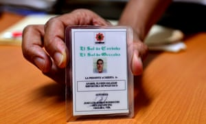 Credential belonging to Anabel Flores, a journalist from El Sol de Orizaba newspaper who was kidnapped in Orizaba.