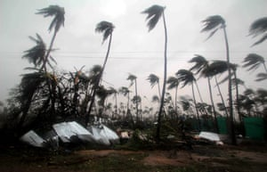Severe winds in Konark in Puri