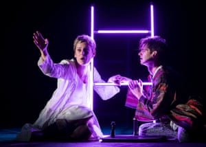 Denise Gough and Andrew Garfield in Angels in America