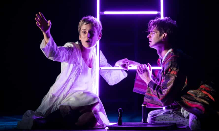 Denise Gough and Andrew Garfield in Angels in America at the National Theatre