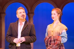 Kenneth Branagh (Arthur Gosport) and Kathryn Wilder (Joyce Langland) in Harlequinade.