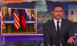 Trevor Noah: 'This is what happens when you put a KGB agent against a KFC agent.'