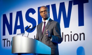 NASUWT general secretary Patrick Roach speaking at a conference in April.