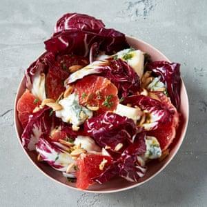 Radicchio, pink grapefruit and gorgonzola winter salad Solo: The Joy of Cooking for One Signe Johansen