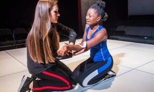 Zoe Waites (Rona) and Juma Sharkah (Eve) in Deny, Deny, Deny.