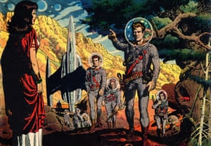 A detail from the Wallace Wood cover to Weird Science No. 14, July–August 1952