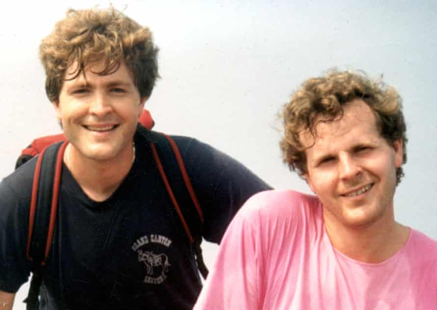 Steve Johnson, left, and Scott Johnson in their last photograph together, in 1988