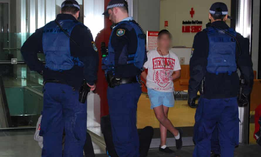 Police during an operation targeting underage drinking in Sydney
