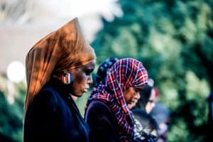 Women attend Eid Gah prayers in Pretoria, South Africa