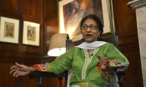 Asma Jahangir speaking in Lahore in 2014.