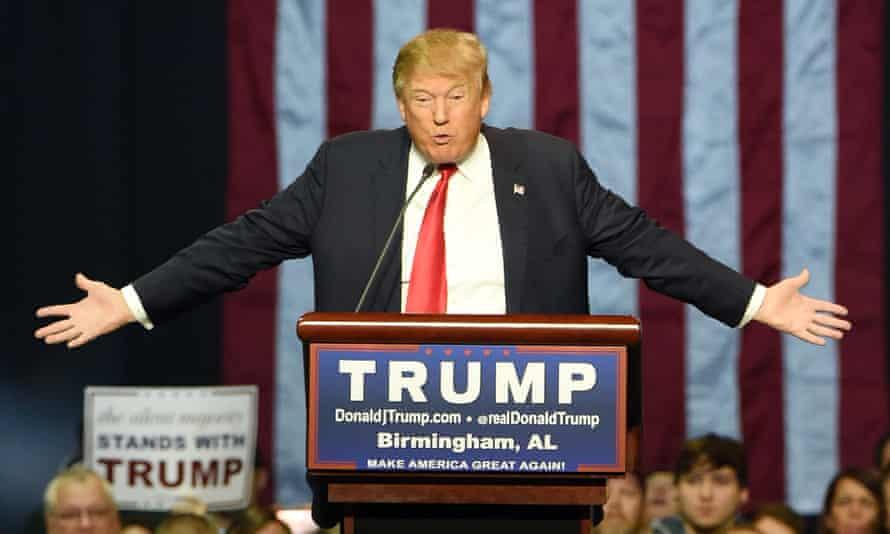 Donald Trump speaks in Birmingham, Alabama.