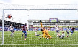 Jeffrey Schlupp fires home the equaliser as Palace ended a run of seven straight defeats.