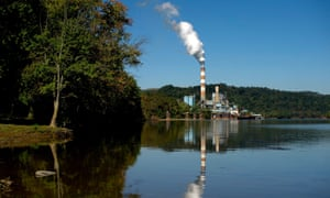 Mitchell power station, a coal-fired plant in Pennsylvania. Trump has slashed programs designed to limit CO2 from power plants, and encouraged oil drilling and coal mining.