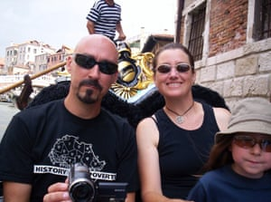 Simon and Naomi Perry on holiday in Venice in July 2005