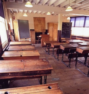 Victorian classroom First Floor at Ragged School Museum, east London