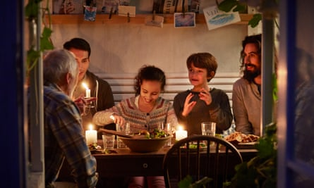 A Danish family get that cosy hygge feeling for supper.
