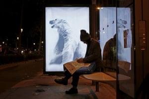 A poster by street artist Aaron Li-Hill