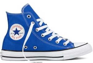 Stay fun on the runDid you know Converse's classic Chuck Taylors come in a summer-sky-blue hue? Statement shades are set to make a big impact this year, so start as you mean to go on. Trainers, Converse.com, £50.