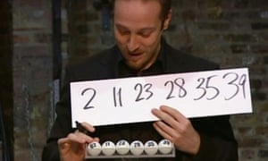 Brown 'predicts' the correct Lottery numbers in 2009.
