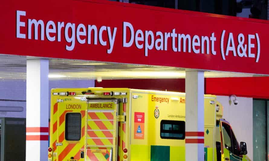 Ambulance outside hospital
