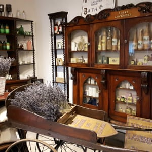 Lavender products at the gift shop of