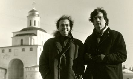 'We ventured out in our Irish shoes' … Sebastian Barry (right) and novelist Séamus Mac Annaidh in Russia in 1992.